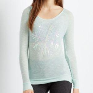 Aeropostle Snowflake Light Knit Sweater